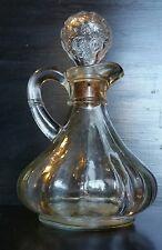 Vintage glass decanter vanity bottle