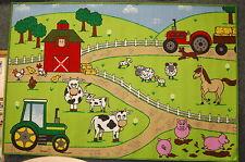 100x150cm Kids Farmyard Animals Play Mat Childrens Rug Pictures Boys Girls
