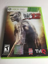 WWE '12 (Xbox 360, 2011) w/Case and Manual - Tested & Working