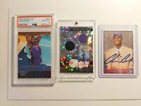 2003 Topps Chris Bosh Rookie Card set + Autograph + Dual Relic lot - PSA 8 Low P