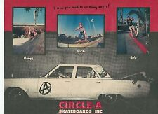 Circle A Pro Models advert from Thrasher Skate Magazine 1988
