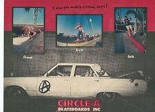 Circle a Pro Modelos anuncio de revista Thrasher Skate 1988