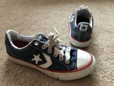 Unisex Converse All Stars Trainers Pumps Canvas Navy Uk Junior 12
