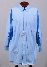 Comfort Zone George Foreman Blue 60% Cotton Long Sleeve Button Down Shirt Sz 18