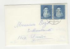 Suisse Helvetia 2 timbres sur lettre 1965 / L479