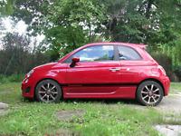 Seitenstreifen Fiat 500 Aufkleber Wunschtext schwarz matt oder Wunschfarbe