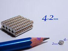 100 MAGNETI NEODIMIO 4x2mm-  MAGNETE  CERAMICA FIMO CERNIT