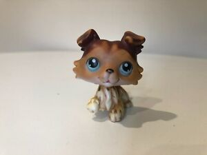 Littlest Pet Shop Brown Collie with Blue Eyes #58