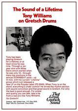 Tony Williams * POSTER *   Jazz Fusion Drum MASTER Gretsch Drums - AMAZING PRINT