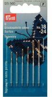 Prym Assorted Embroidery Tapestry Needles with Gold Eye Size No. 18-24 (125560)