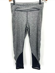 Free People Movement Gray Mesh Panel Cutout Ace Compression Leggings Large