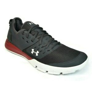 Under Armour Men's Charged Ultimate 3.0 Sneaker Size 10 Black/Red 3021294-101