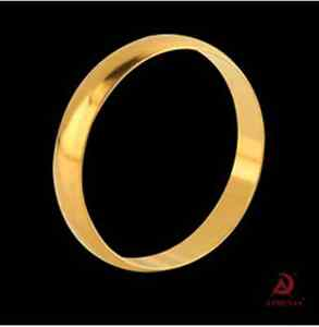Fashion 18K Gold Plated Ring Classic simplicity Cambered Lovers Ring Jewelry