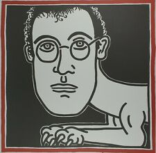 Keith Haring, Self Portrait 1986, Plate Signed Lithograph