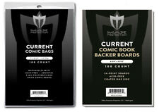 1000 THICK Current / Modern Comic Book Poly Bags + Acid Free Boards Max Pro