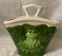 Details about  /Vtg Collectible  **JOSEPH ORIGINALS** Green Ceramic Frog Lily Pad//Red Lady Bug