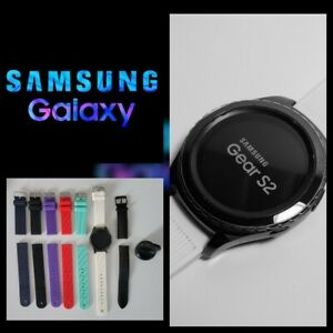 Samsung Galaxy Gear S2 Classic Smart Watch SM-R735T with leather band & charger