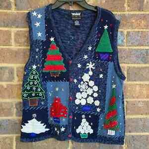VTG Novelty Christmas Sweater Vest Size M