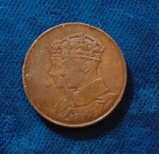 CANADA Canadian 1939 Royal Visit medallion medal King Geo VI copper