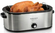 Fits 28 lb Turkey Roaster Oven Electric Slow Cooker Stainless Steel Roast Bake