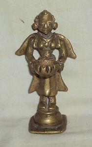 Antique Traditional Indian Ritual Bronze 'Laxmi Lamp' Very Rare