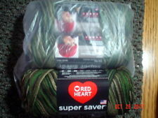 3 Skeins of Red Heart Super Saver Worsted Weight Yarn in Camouflage