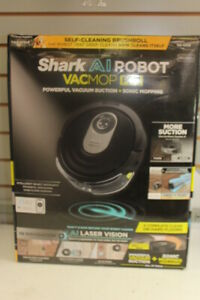Shark AI Robot VACMOP PRO Black Vacuum Suction & Sonic Mopping R2001WD Brand New