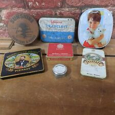 Lot Of Vintage Tins, Old Tins, Tobacco, Household