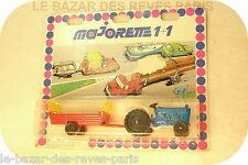 MAJORETTE Tracteur + remorque.  ancien état neuf