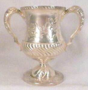 Antique Silverplate Sugar Bowl Spooner Meridan 1463 Trophy Brite Cut Victorian