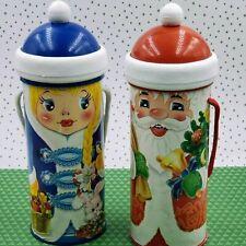 Ukrainian/Russian Father Christmas/Santa Claus and Snow Maiden Christmas Tube