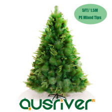 5FT 1.5M Green Xmas Christmas Tree Bushy Mixed Leaves Metal Stand Venus VNS150