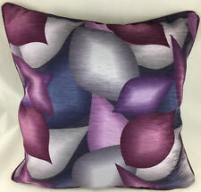Purples Abstract Design Piped Edge Evans Lichfield Cushion Cover