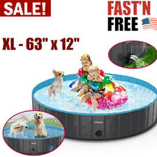 Foldable Summer Dog Pet Swimming Pool Portable Kiddie For Kids Bathing OUTDOOR
