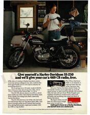 1976 HARLEY DAVIDSON SS-250 Motorcycla Black VTG PRINT AD