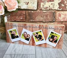 Personalised Daddy Photo Block, Father's Day Gift, Daddy Gift, Dad Photo Gift