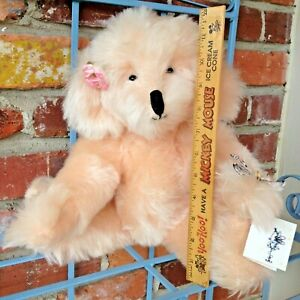Vintage Jack Weigel Teddy Bear - Rose Is A Peachy Pink Mohair Butterfly Catcher!