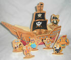 NEW WOODEN 3D PIRATE SHIP SLOT TOGETHER PUZZLE TOY TRADITIONAL WOOD 10019 ACK
