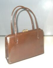 VINTAGE 1940/50s LIZARD SKIN LEATHER GRACE KELLY HANDBAG Goodwood Revival