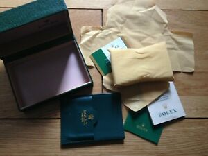 New Replacement  wooden Watch Box + accessories For Rolex   No reserve