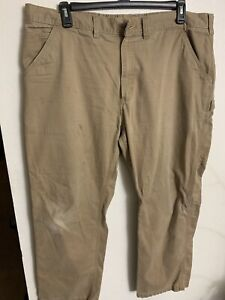 Carhartt Size 42x30 Men's Relaxed  Fit Carpenter Work Pant Beige Color Pocket