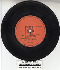 "SIMON & GARFUNKEL  El Condor Pasa 7"" 45 rpm vinyl record + juke box title strip"