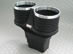 Alcabo Drink Holder Black Ring Cup Bentley Continental GT GTC Flying Spur Right