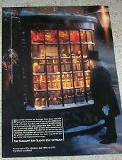 1987 ad page - Glenlivet Scotch -Bah Humbug Mr Scrooge- Christmas spirit ADVERT