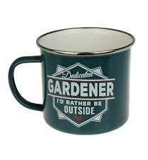 Gardener Camping Enamel Tin Metal Mugs Cups Outdoor Gardening Picnic New