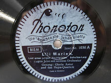 78rpm Lili Marleen (Marlen) - canzone di un giovane vigila voce-Gloria Astor