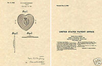Purple Heart US Patent Art Print READY TO FRAME!!! 1933 Medal Pin Award Valor