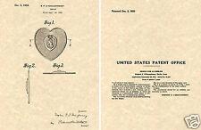 Purple Heart US Patent Art Print READY TO FRAME!!! 1933 Medal Pin Award Valor