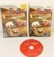 Nintendo Wii Cars Mater-National Championship Disney Pixar Game CIB w/ Manual