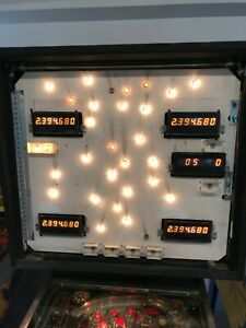 Bally Stern 7 Digit Pinball Display - 100% WORKING